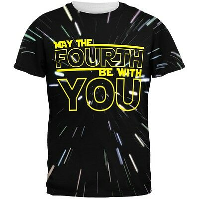 May The Fourth Be With You All Over Adult T Shirt