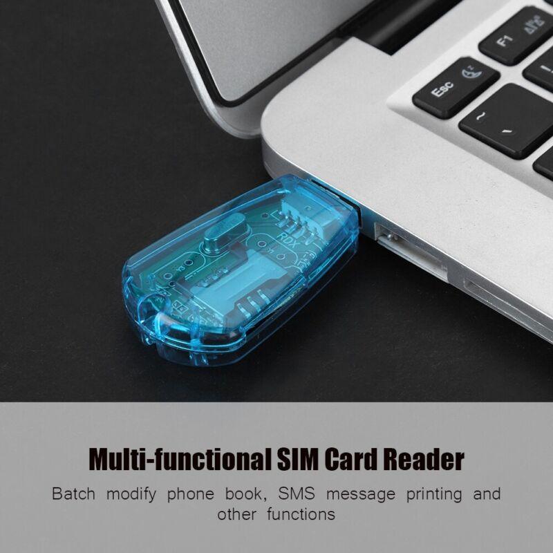 USB SIM Card Reader Writer Clone Copier Backup Adapter Sim Card GSM CDMA WCDMA