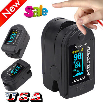 Usa Pulse Fingertip Oximeter Blood Oxygen Spo2 Monitor Pr Pi Heart Rate Fda