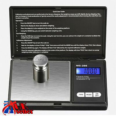 Electronic Pocket Mini Digital Gold Jewelry Weighing Scale 0.1g Weight 500 Gram