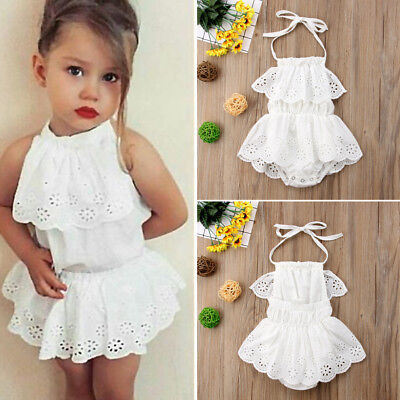 Girl Infant Costume (Newborn Baby Girls Backless Lace Tutu Romper Dress Outfits Kids Costume US)