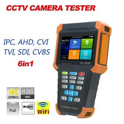 4 Ipc-x4adhs H.265 4k Wifi Poe Cctv Camera Tester Ip Ahd Cvi Tvi Sdi Cvbs 6in1