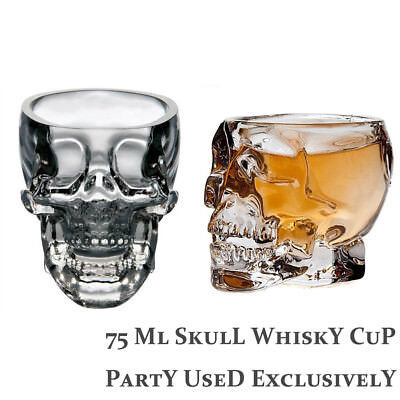 Halloween Skull Glass Cup Beer Wine Transparent Glass Head Vodka Whiskey Shot - Wine Cups