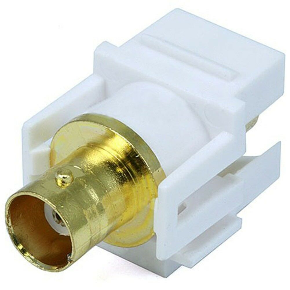 Eagle BNC Keystone Insert Plug White Connector Coupler Jack Modular QuickPort