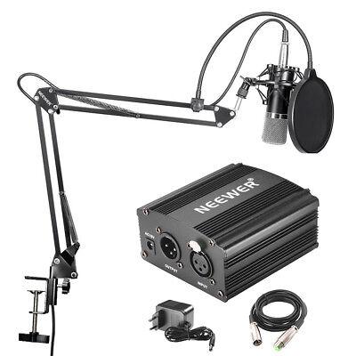 Neewer NW-700 Kondensatormikrofon Set mit XLR-Kabel, 48V Phantomspeisung