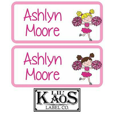 42 Personalized Waterproof Cheerleader Name Labels Sticker Kids School Shoe - Kids Name Labels