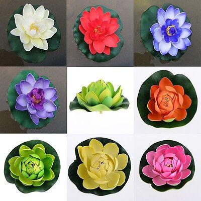 Garten Teichpflanze Seerose künstliche Pflanze Schwimmende Kunstblumen Deko