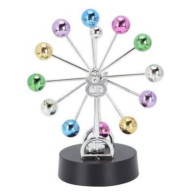Plastic Revolving Ball Gadget Perpetual Motion Desk Art Toy Office Decor 22.5cm