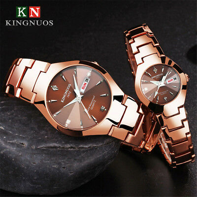 Waterproof Stainless Steel Bracelet Wristwatch Sport Crystal Quartz Date Watch