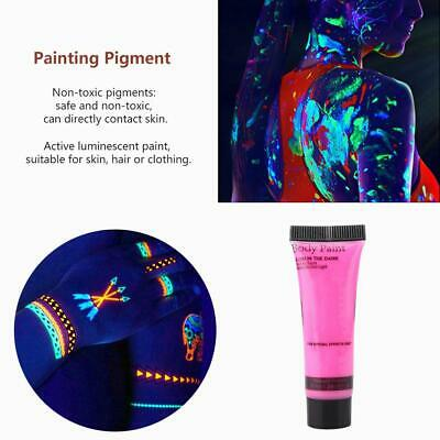 10ml DIY Glow in the Dark Fluorescent Face Body Paint Stage Makeup Pigment Party](Diy Glow In The Dark Body Paint)