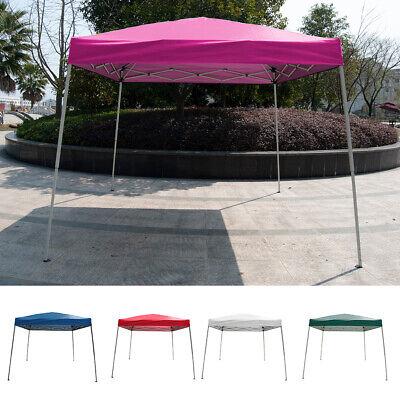 10' x10'Outdoor Slant Leg EZ Pop Up Canopy Wedding Party Tent Folding Gazebo 10 Slant Leg Canopy