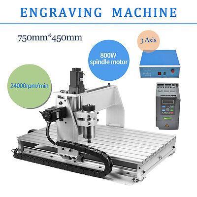 TOP CNC Router Engraver Milling Machine Engraving Drilling 3 Axis 6040 Desktop