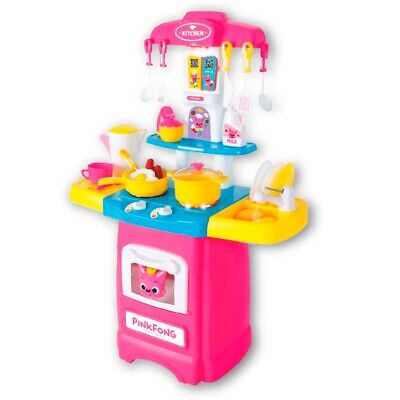 Pinkfong Baby Shark Kids Play Kitchen Toy LED & 4 Songs