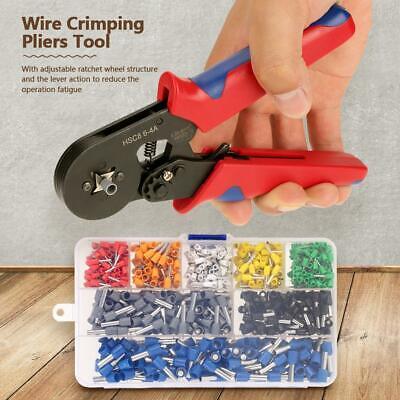 Wire Crimping Pliers Tool Ferrule Crimper 0.25-6mm With 800pcs Crimp Terminal