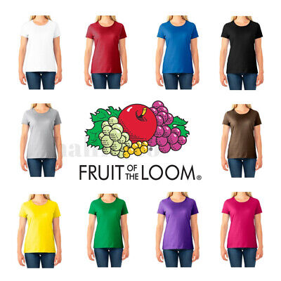 Fruit of the Loom Women's  Short Sleeves HD cotton T-Shirt