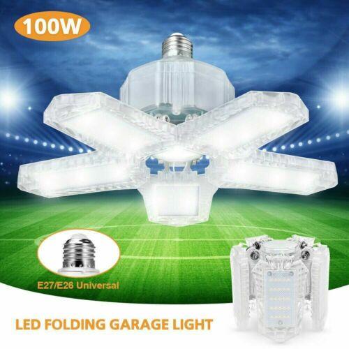 60w 100w led garage light bulb deformable