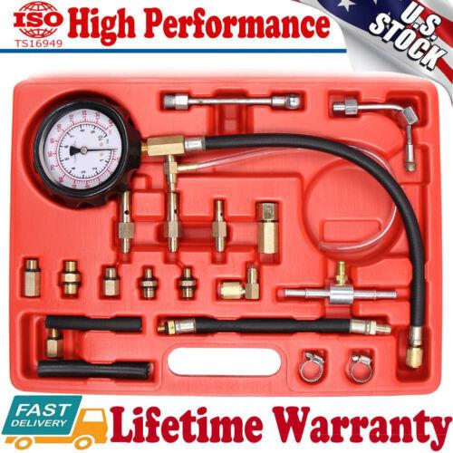 100PSI Pressure Gauge Tool with Hose Adapter for Truck Car ATV A JIFETOR Oil Pressure Tester Kit Professional Engine Diagnostic Test N