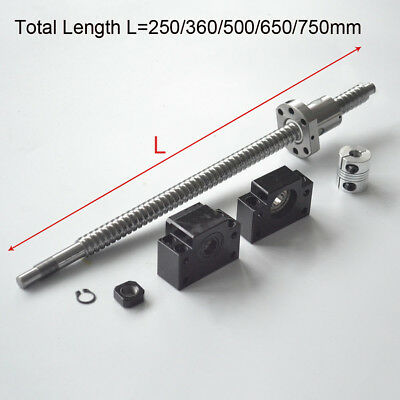 Rolled Ballscrew C7 Anti-backlash Ballnut L250360500650750mm New