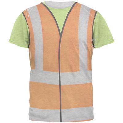 Halloween Road Worker Construction Vest Costume Mens T Shirt - Road Worker Halloween Costumes