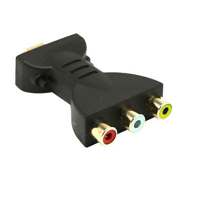 HDMI TO 3 RCA VIDEO AV ADAPTER COMPONENT CONVERTER FOR HDTV DVD PROJECTOR ORNATE Rca Hdtv Dvd
