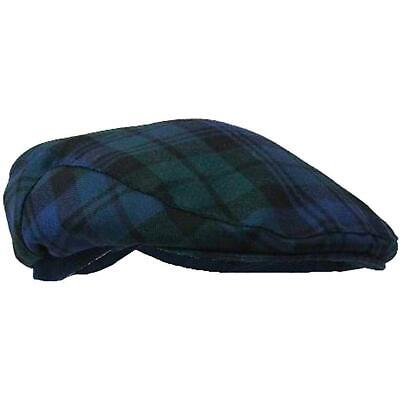 Authentic Blackwatch 100% Scottish Tartan Golf Cap - One Size Fits All