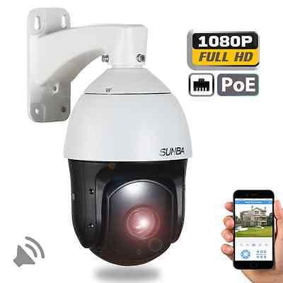 Sunba PoE PTZ Camera 20X Audio 1080P High Speed IP Network Night Vision Outdoor