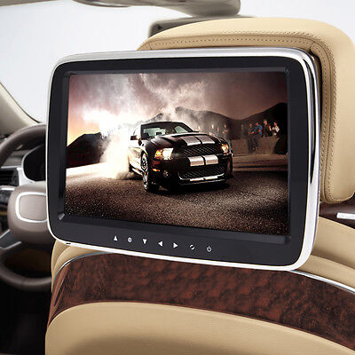 "10.1"" Digital LCD HDMI Screen Car Headrest Monitor DVD USB MP5 Player IR/FM Game"