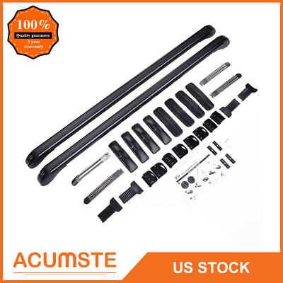 Universal Car Top Luggage Roof Rack Cross Bar Carrier Adjustable Window Frame
