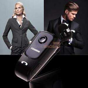 Wireless Collar Clip Retractable Stereo Bluetooth Headset For iPhone Samsung HTC