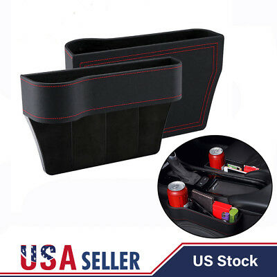 2x Car Seat Storage Box Cup Drink Holder Organizer Gap Pocket Driver  Passenger