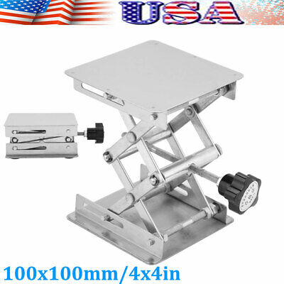 "4x4"" in LabLift Lifting Adjustable Platform Stand Rack Scissor Stainless Steel"
