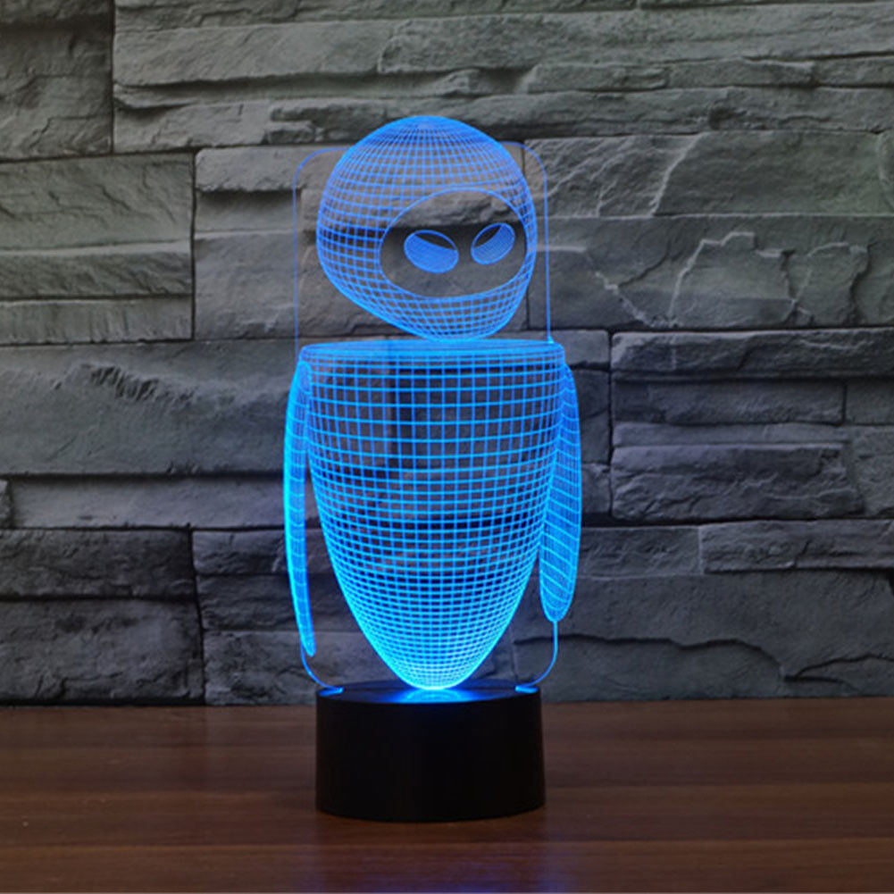 Table LED Lamp Robot 3d LED Table Lamp 7 Colors Change Touch Switch Night Light