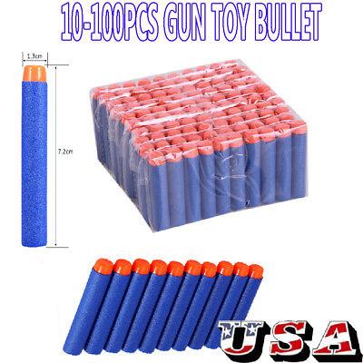 10/100pcs Bullet Darts For NERF N-Strike Round Head Blasters Kids Toy Gun Gift