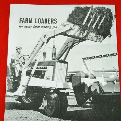 Ih International Farm Loaders For Farmall Tractors Brochure Cub 424 504 2504 Cub