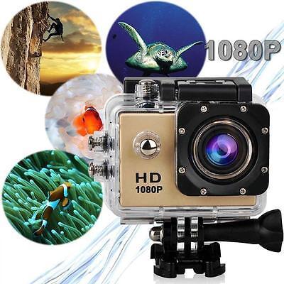 Pro Impermeable Acción Vídeo Cámara Deportiva conmemorativo HD 1080P 12MP LCD