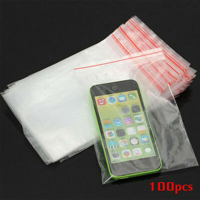 100pcs Durable Zip Lock Clear Seal Packaging Bag For Candy Nut Food Storage