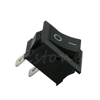 1pc 250v 3a Mini Boat Rocker Switch Spst On-off Kcd1-2pin Black Plastic Button