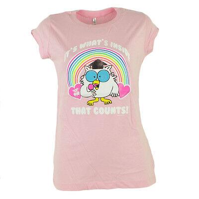 Tootsie Roll Pop Its Whats Inside That Counts Pink Women Ladies Tshirt Tee - Pink Tootsie Rolls