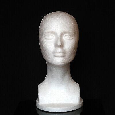Female Foam Mannequin White Head Model Hat Wigs Jewelry Display Stand Rack Usa