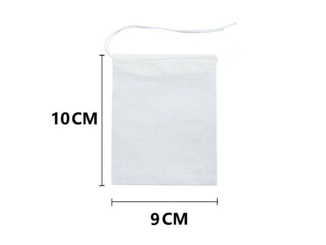 US 100-400 pcs Disposable Filter Drawstring Flip Empty Teabag Herb Loose Tea Bag
