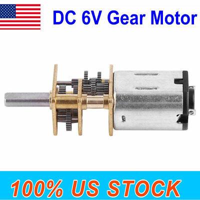 Dc 6v 10rpm High Torque Low Speed Electric Gear Motor 12mm W Gear Wheel