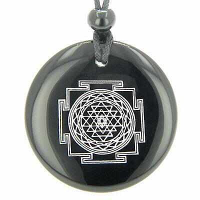 Sri Yantra Chakra Talisman Black Onyx Magic Gemstone Circle Spiritual Powers Pen