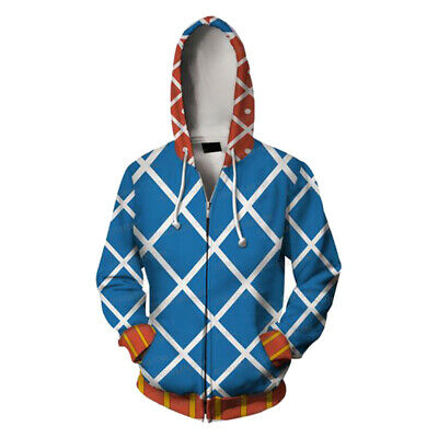 JoJo's Bizarre Adventure: Golden Wind Cosplay Guido Mista Hoodie Costume Jacket - Guido Halloween Costumes