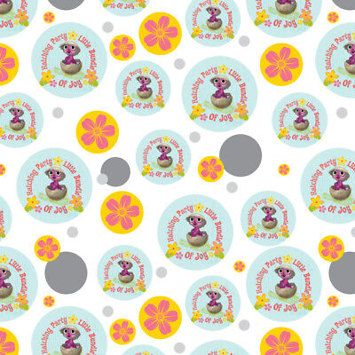 Hatching Party Bundle Joy Baby Shower Premium Gift Wrap Wrapping Paper Roll - Baby Shower Wrapping Paper