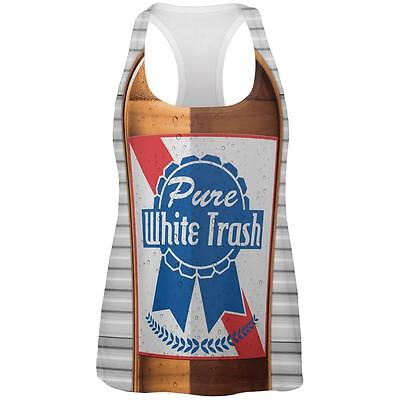 4th of July Halloween Pure White Trash Beer Costume Womens Work Out Tank Top