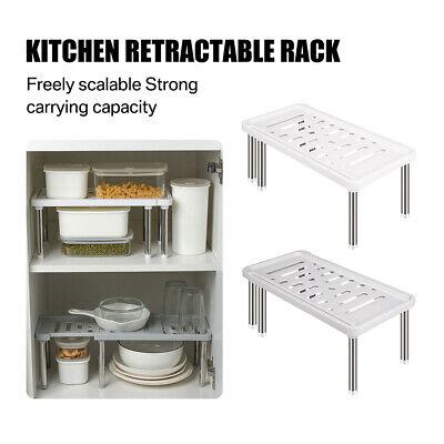 35-61CM Verstellbar Küchenregal Ablage Organizer Regaleinsatz Küchengestell DE