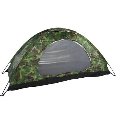 Portable One-Person Camouflage Tent Waterproof For Outdoor Sleep Camping Hiking