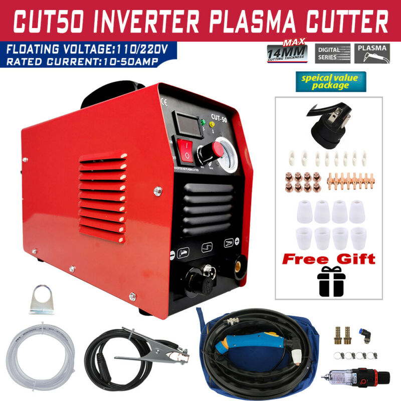 Plasma Cutter CUT50 Digital Inverter 110/220V Dual Voltage Plasma Cutter US NEW