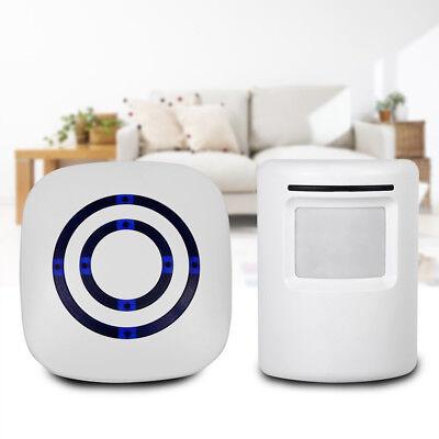 Bewegungsmelder Wireless Durchgangsmelder Funkklingel Alarmsystem Funk Alarm ()
