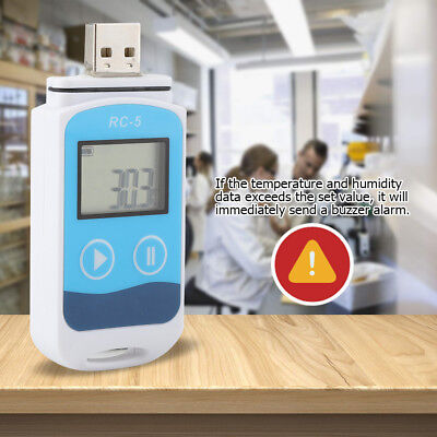 Rc-5 Usb Socket Temperature Data Logger Humidity Recorder Internal Sensor Record